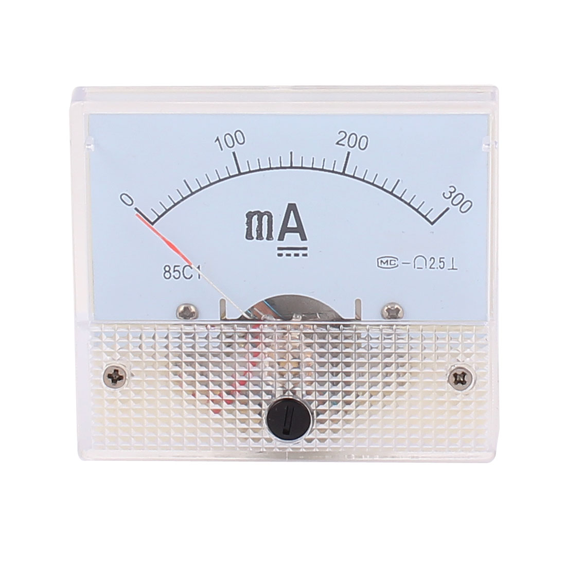 85C1 Pointer Needle DC 0-300mA Current Tester Panel Analog Ammeter 65mm x 56mm