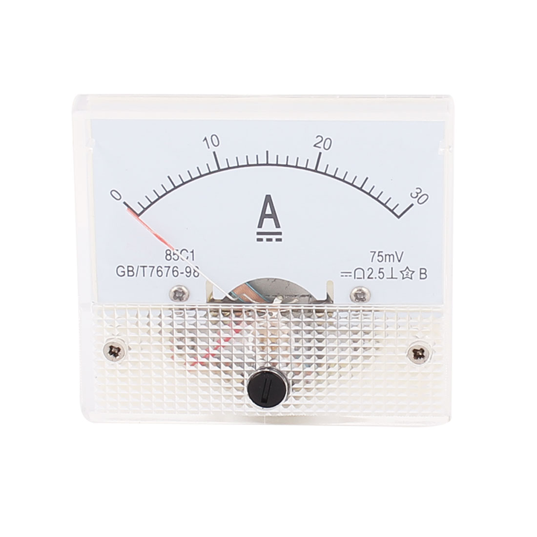 85C1 Pointer Needle DC 0-30A Current Tester Panel Analog Ammeter 65mm x 56mm