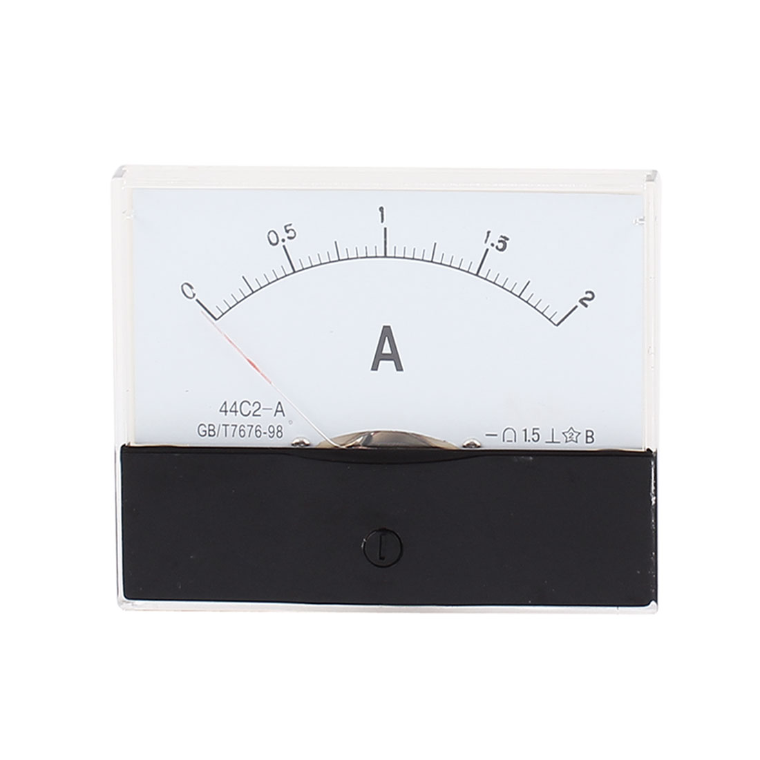 44C2 Pointer Needle DC 0-2A Current Tester Panel Analog Ammeter 100mm x 80mm
