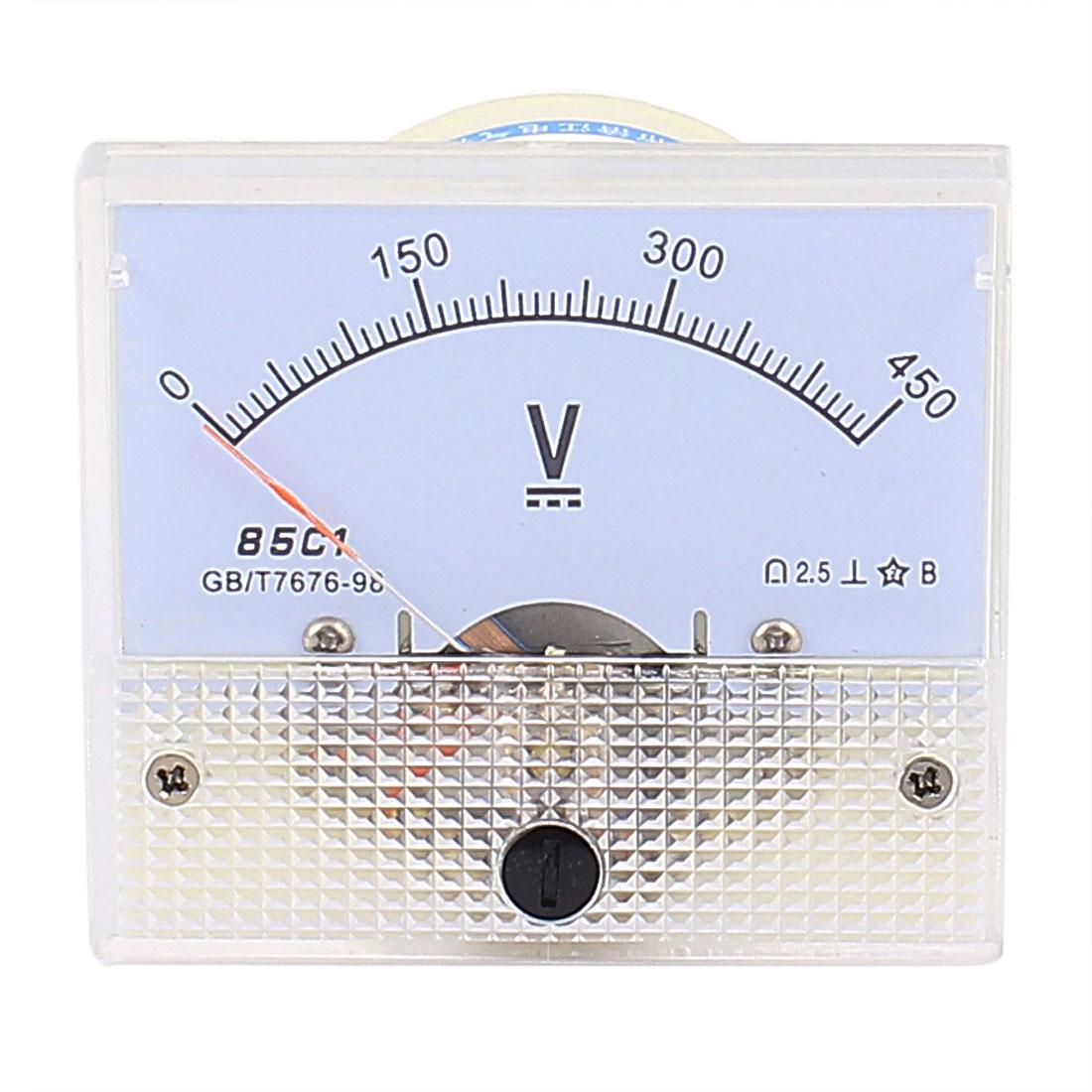 85C1 Pointer Needle DC 0-450V Volt Tester Panel Analog Voltmeter 65mm x 56mm