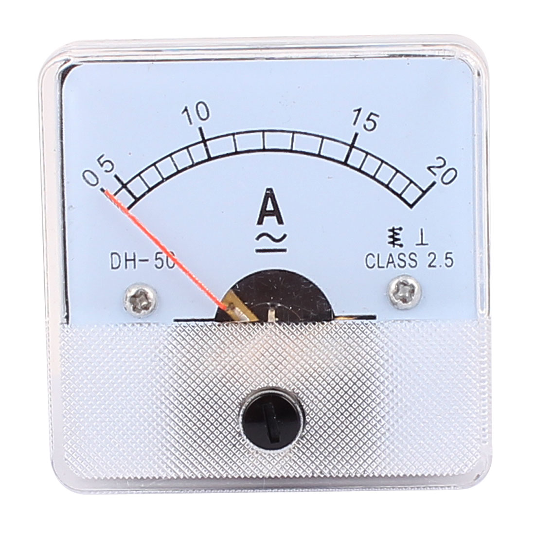 DH50 Pointer Needle AC 0-20A Current Tester Panel Analog Ammeter 50mm x 50mm