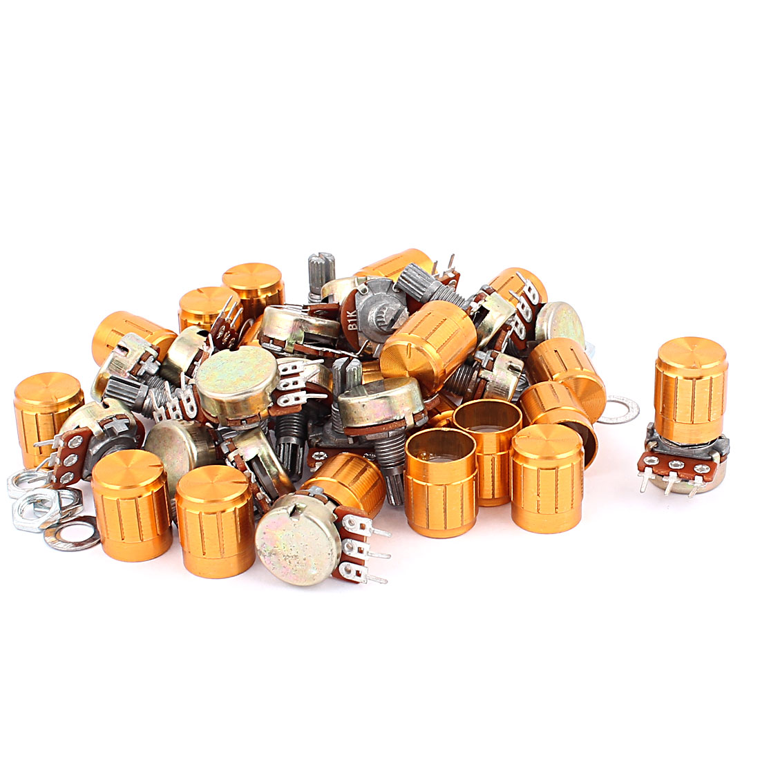 20Pcs WH148 1K Ohm 15mm Rotating Shaft Linear Taper Rotary Potentiometer