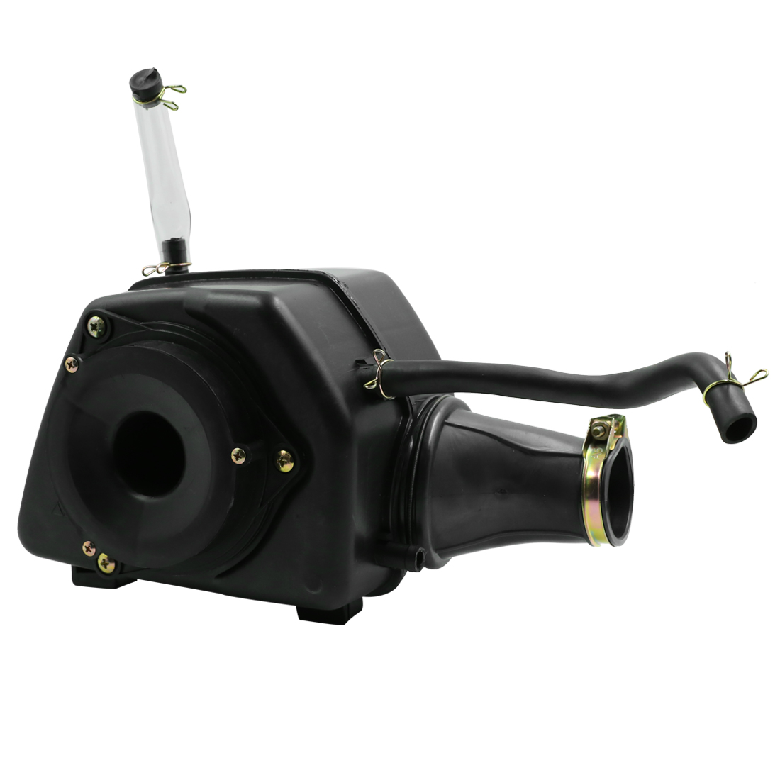 Black Motorcycle Air Cleaner Case Intake Filter Box Assembly for GN125 CBT