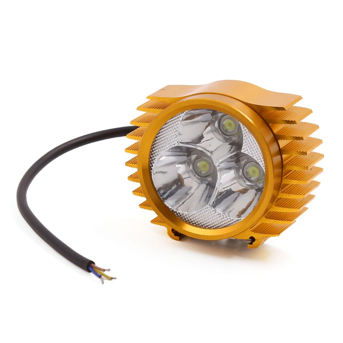 Universal White 3-LEDs Motorcycle Spot Driving Light Headlight Fog Lamp