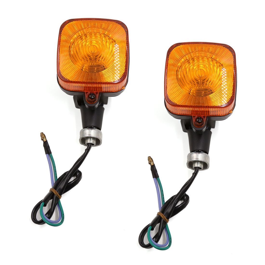 Pair Square Style Motorcycle Blinker Amber Turn Signal Lamp Indicator for CG125