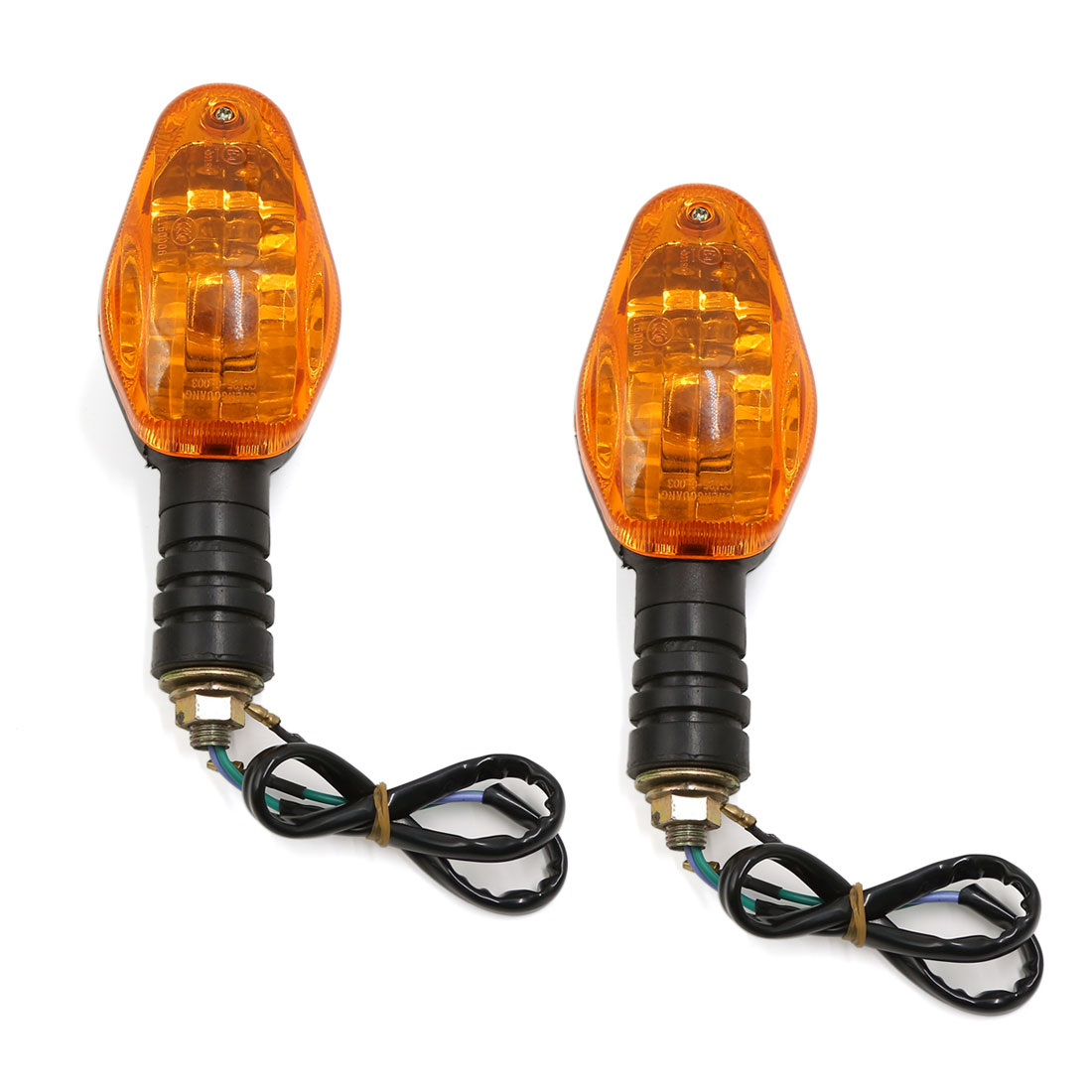 Motorcycle Motorbike Turn Signal Indicators Turning Light Amber 2 Pcs for Honda