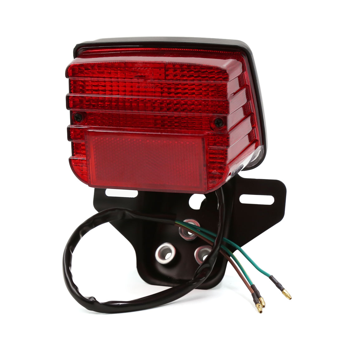 Red Brake Stop License Plate Lamp Rear Tail Light DC 12V for CG125 Motorcycle