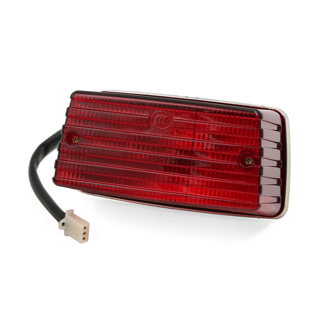 Red Motorcycle Brake Stop License Plate Integrated Tail Light DC 12V for GS125