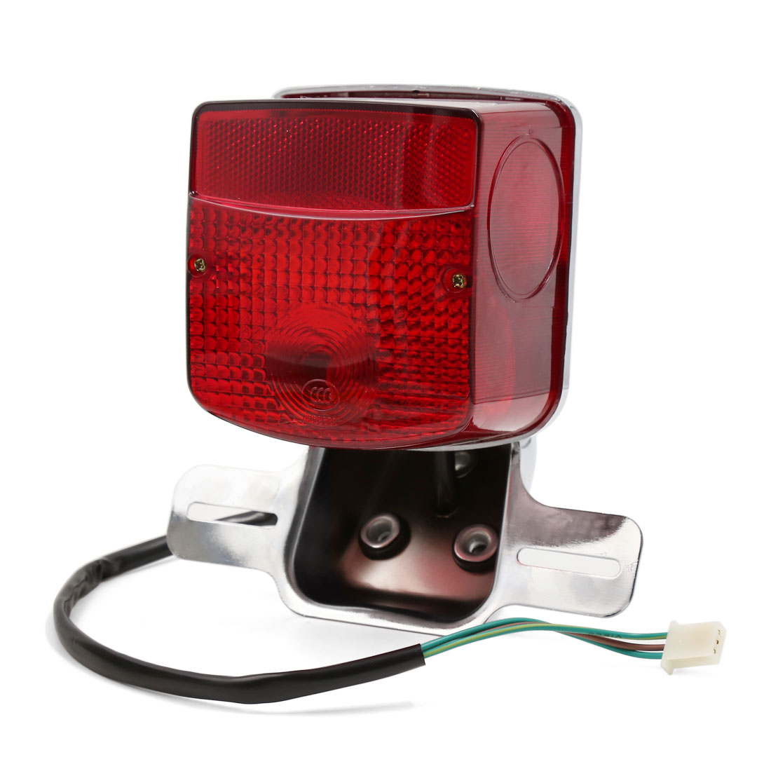 Motorcycle Red License Plate Integrated Rear Tail Light DC 12V for GN125