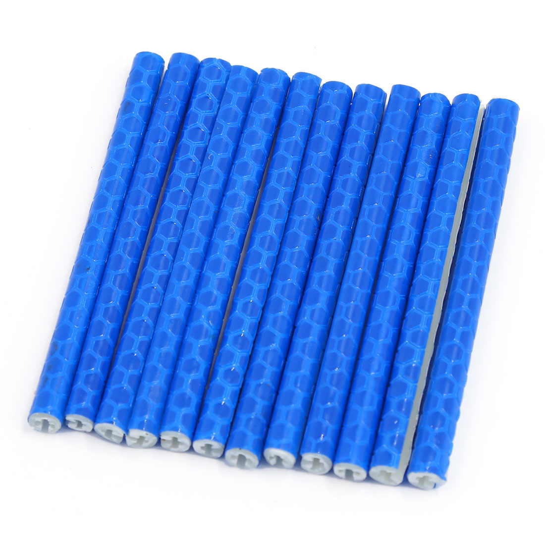 12 Pcs Blue Bicycle Bike Wheel Rim Spoke Reflective Tube Warning Strip Reflector