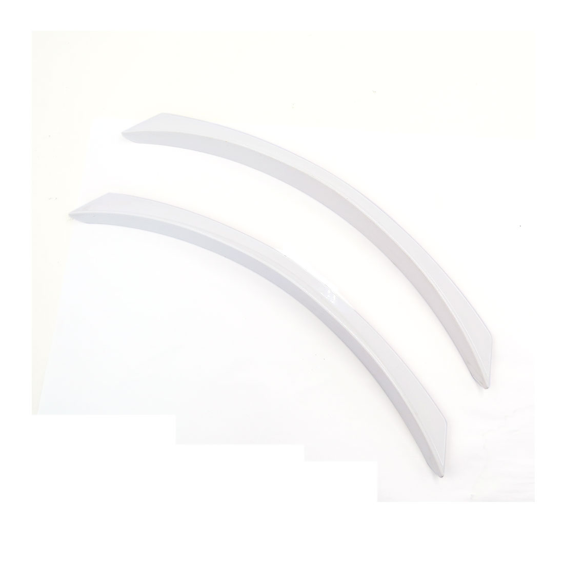 2 Pcs White Plastic Car Front Rear Bumper Anti-rub Protector Guard 36.5cm Long