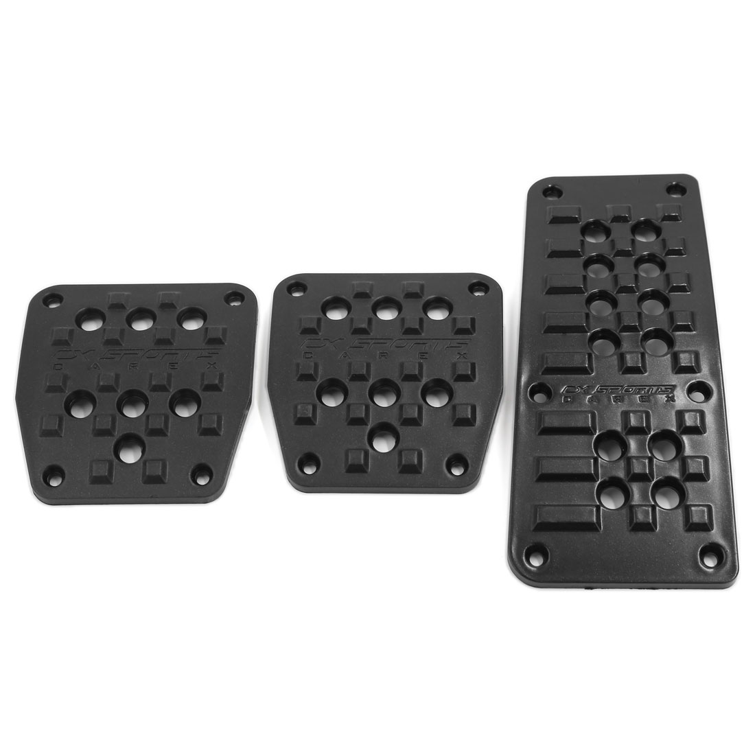 3 in 1 Black Plastic Non-slip Surface Gas Brake Cluth Pedal Cover for Manual Car