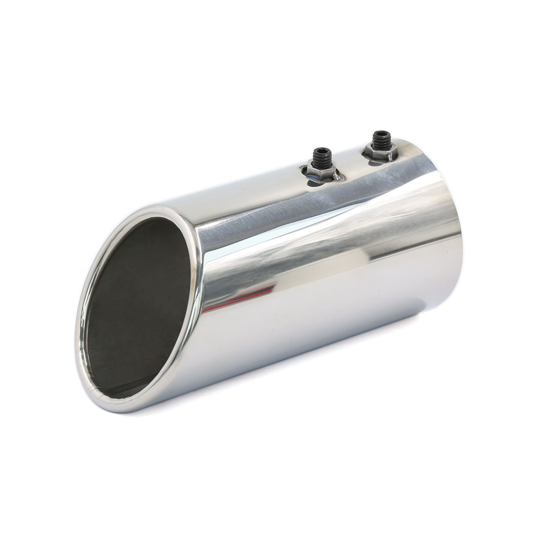 Universal 74mm Inlet Stainless Steel Exhaust Muffler Silencer for Car Vehicle