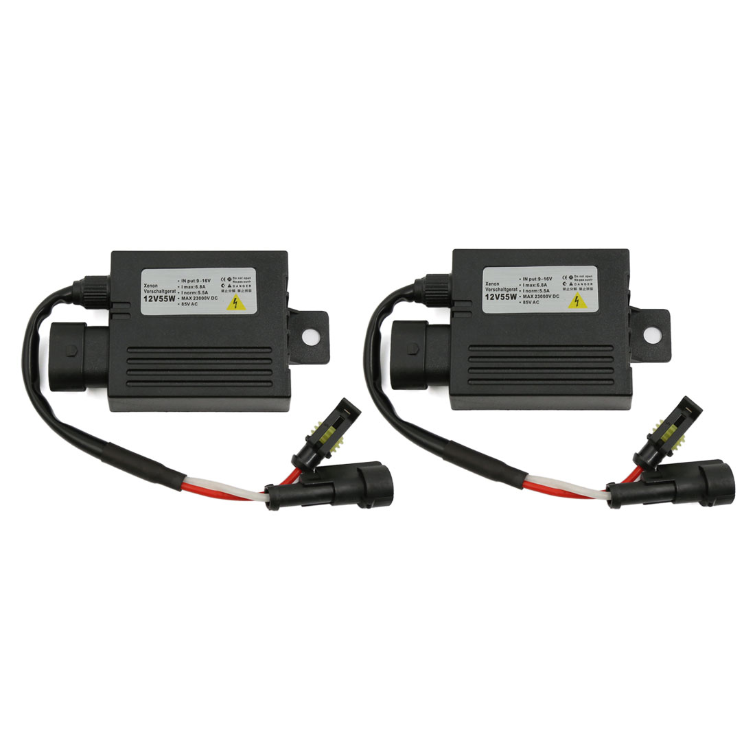 2 Pcs 12V 55W HID Slim Ballast Xenon Conversion for H1 H4 H7 H10 H11 9005 Bulb