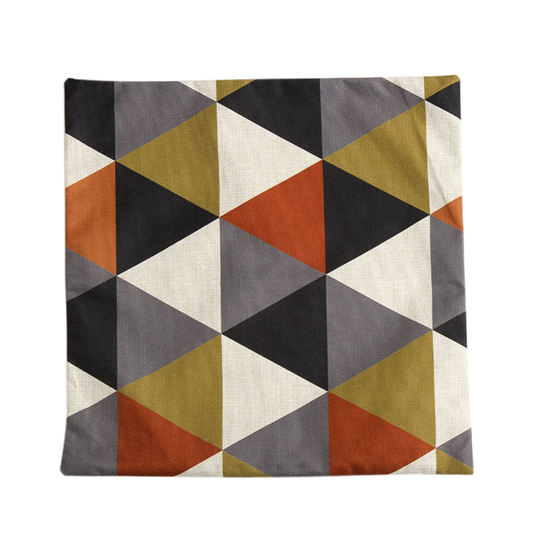 Piccocasa Sofa Linen Orange Rhombus Pattern Cushion Cover Pillow Case 45 x 45cm
