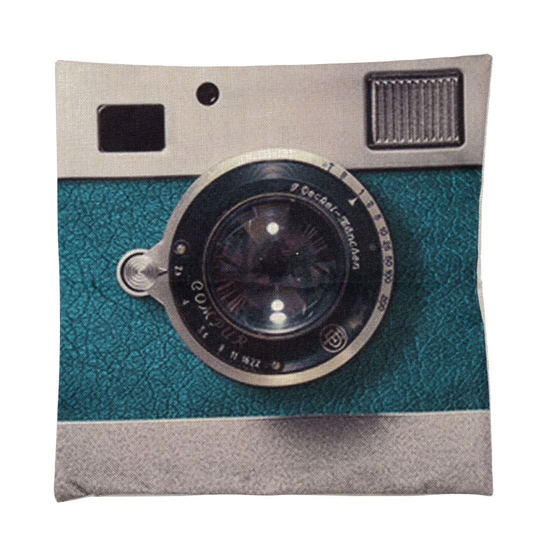 Piccocasa Sofa Linen Blue Camera Pattern Cushion Cover Pillow Case 45 x 45cm