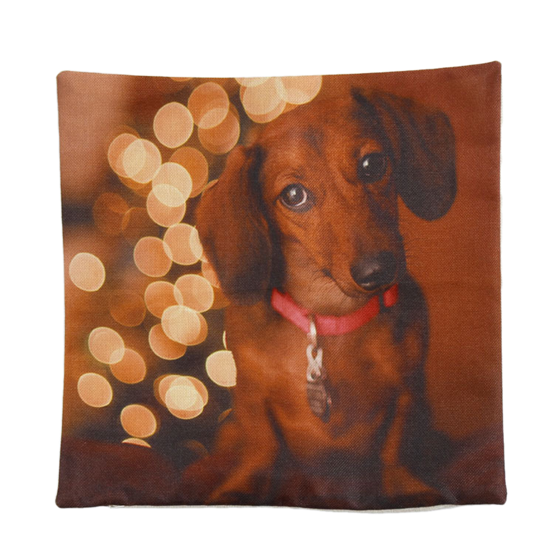 Piccocasa Dog Printed Zipper Closure Throw Cushion Pillow Cover Pillowcase
