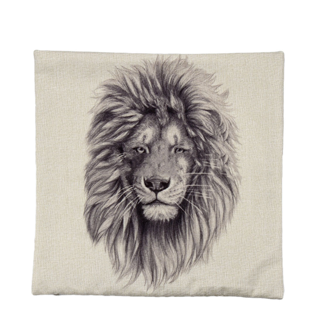 Piccocasa Sofa Bed Decor Lion Pattern Waist Cushion Pillow Cover Case
