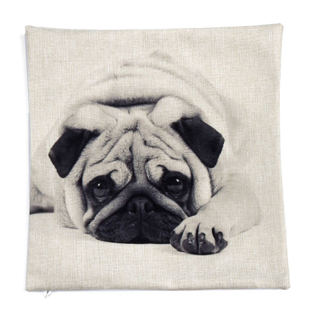 Piccocasa Home Decor Dog Print Waist Cushion Pillow Cover Case 45 x 45cm