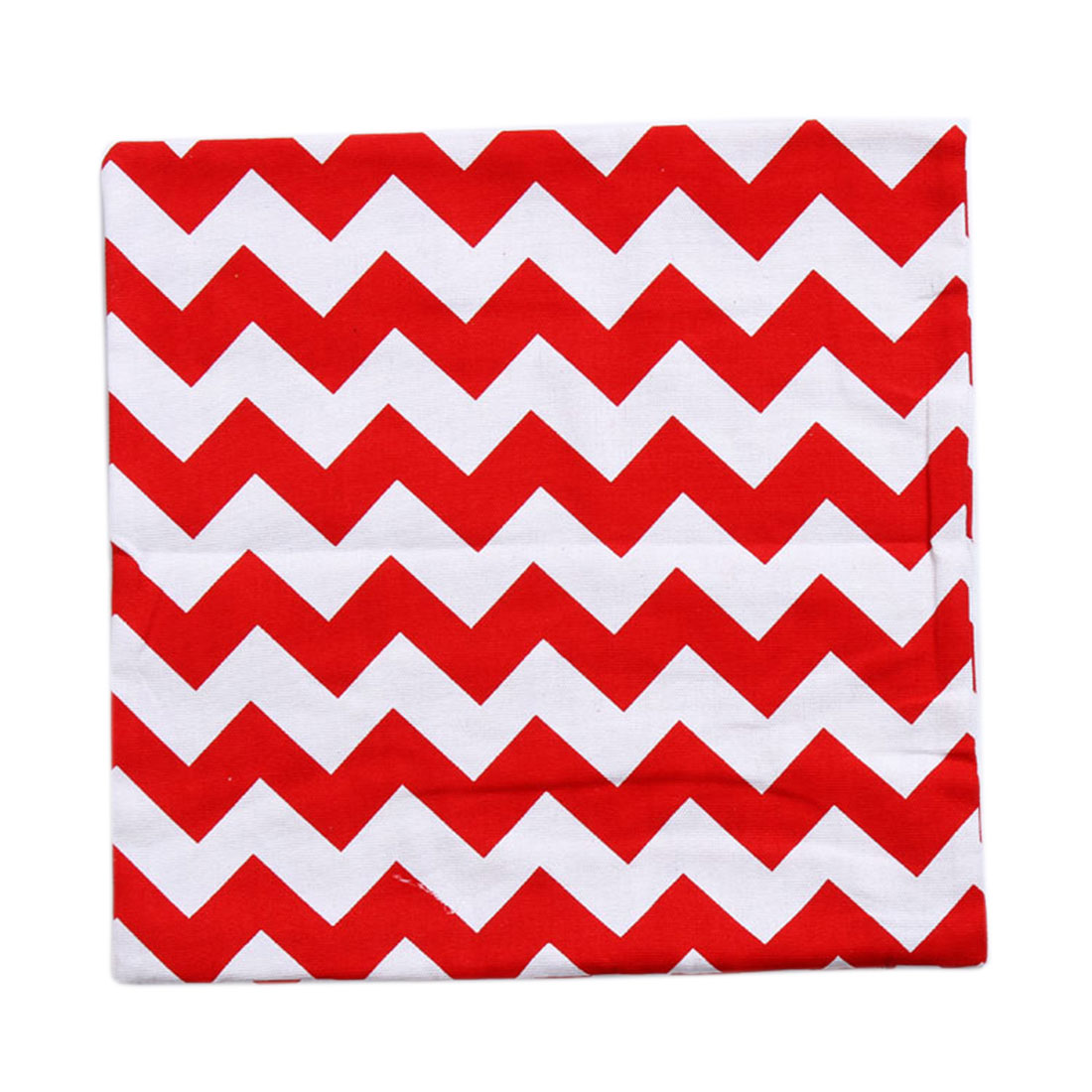 Piccocasa Sofa Bed Zigzag Pattern Throw Cushion Pillow Cover Red White 45 x 45cm