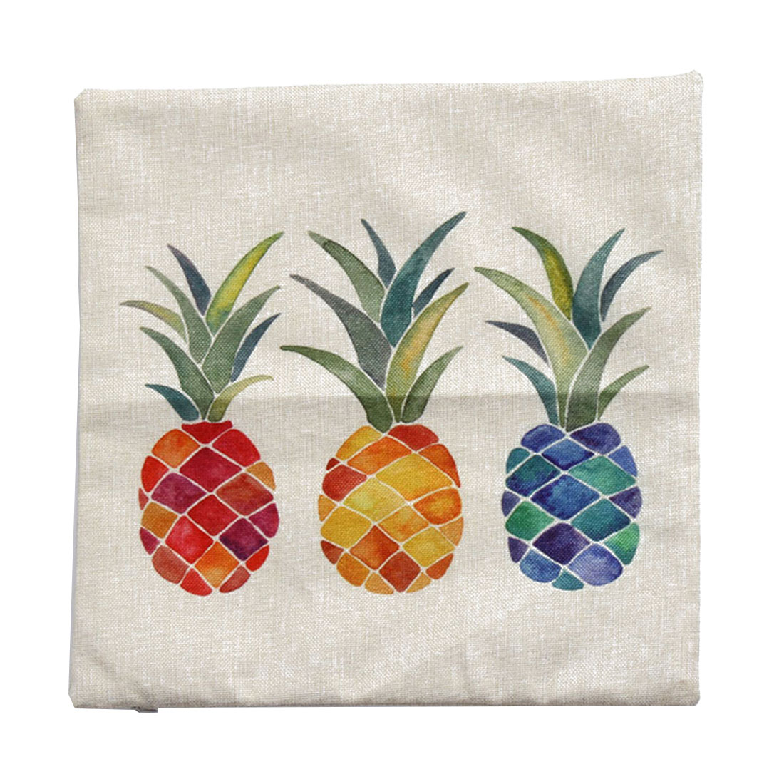 Piccocasa Home Sofa Linen Multicolor Pineapple Pattern Cushion Cover Pillow Case