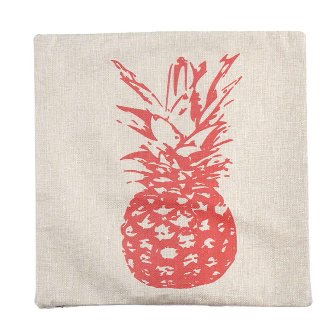 Piccocasa Home Sofa Linen Pink Pineapple Pattern Cushion Cover Pillow Case
