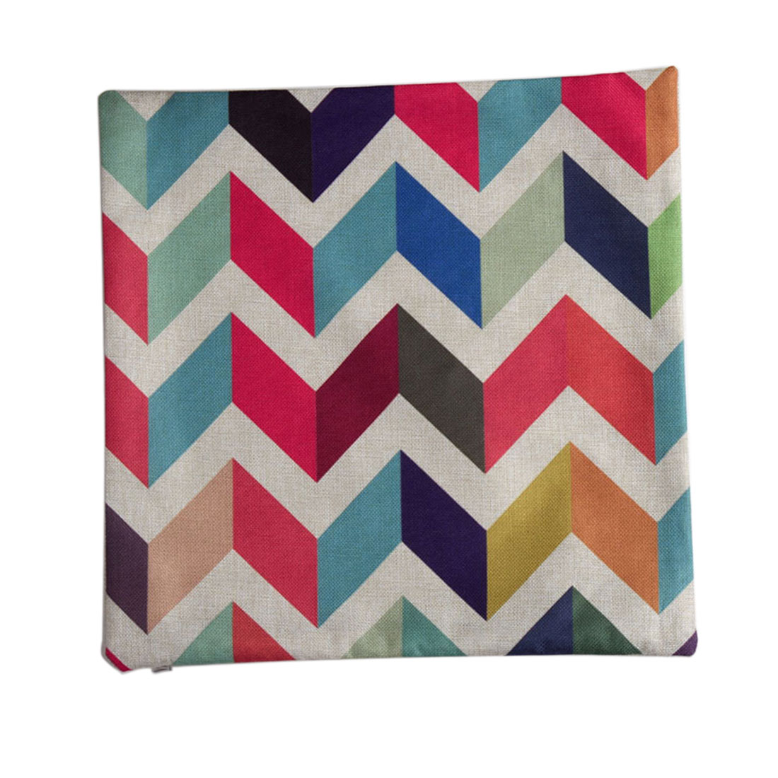 Piccocasa Sofa Linen Zigzag Pattern Cushion Cover Pillow Case 45 x 45cm