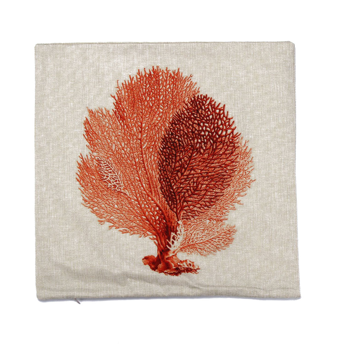 Piccocasa Linen Coral Pattern Square Shaped Cushion Cover 45 x 45cm