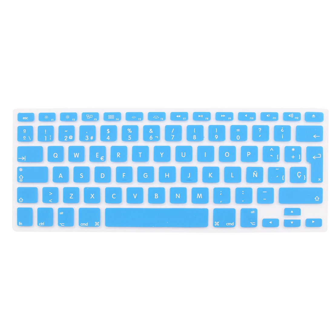 "Spanish Silicone Keyboard Skin Cover Blue for Apple Macbook Air 13""15""17"" EU"