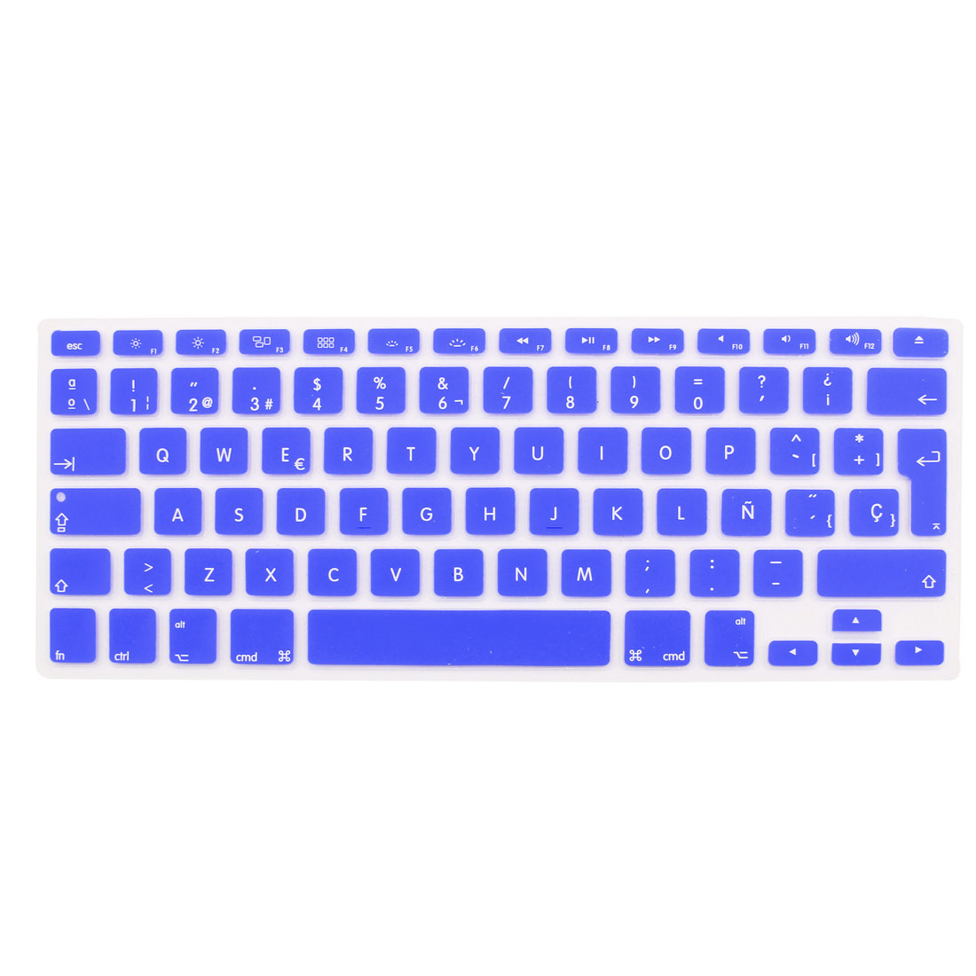 "Spanish Silicone Keyboard Skin Cover Dark Blue for Apple Macbook Air 13""15""17"" EU"