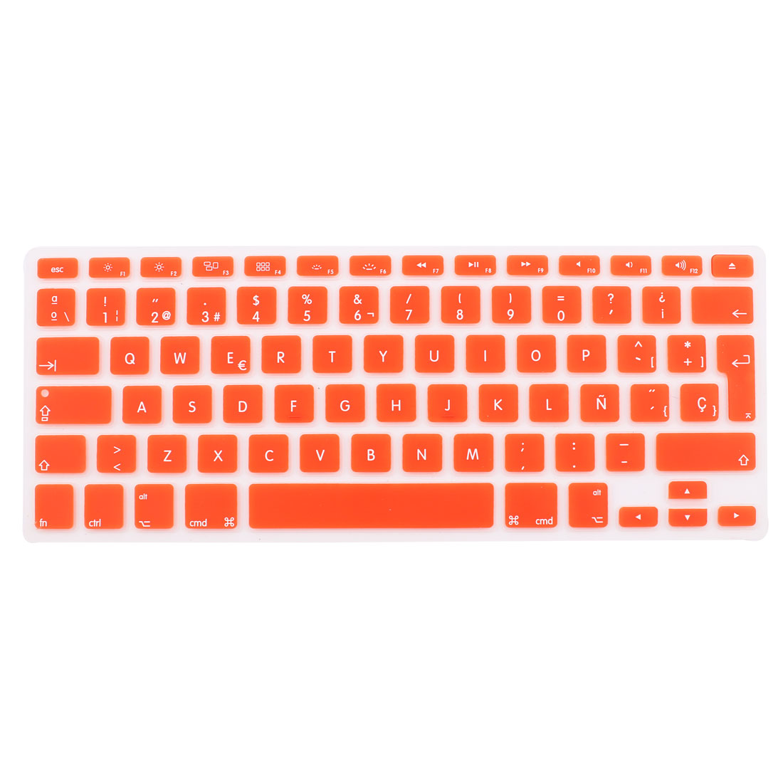 "Spanish Silicone Keyboard Skin Cover Orange for Apple Macbook Air 13""15""17"" EU"