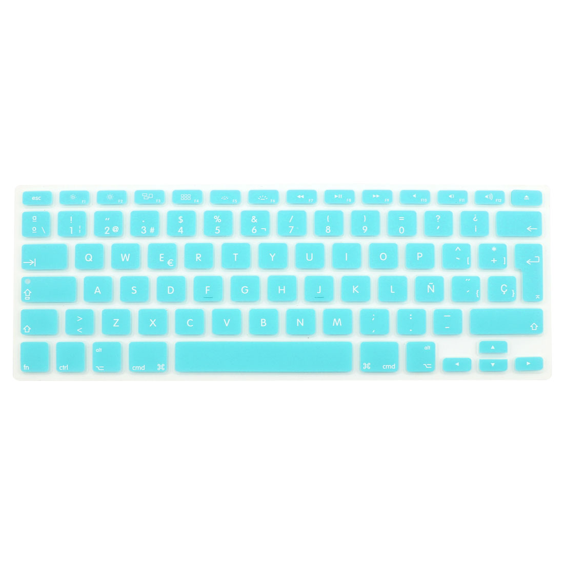 "Spanish Silicone Keyboard Skin Cover Light Blue for Apple Macbook Air 13""15""17"" EU"