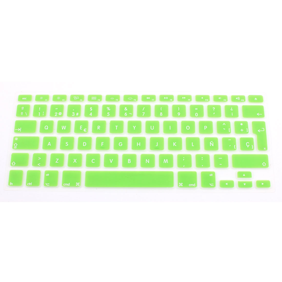 "Spanish Silicone Keyboard Skin Cover Green for Apple Macbook Air 13""15""17"" EU"