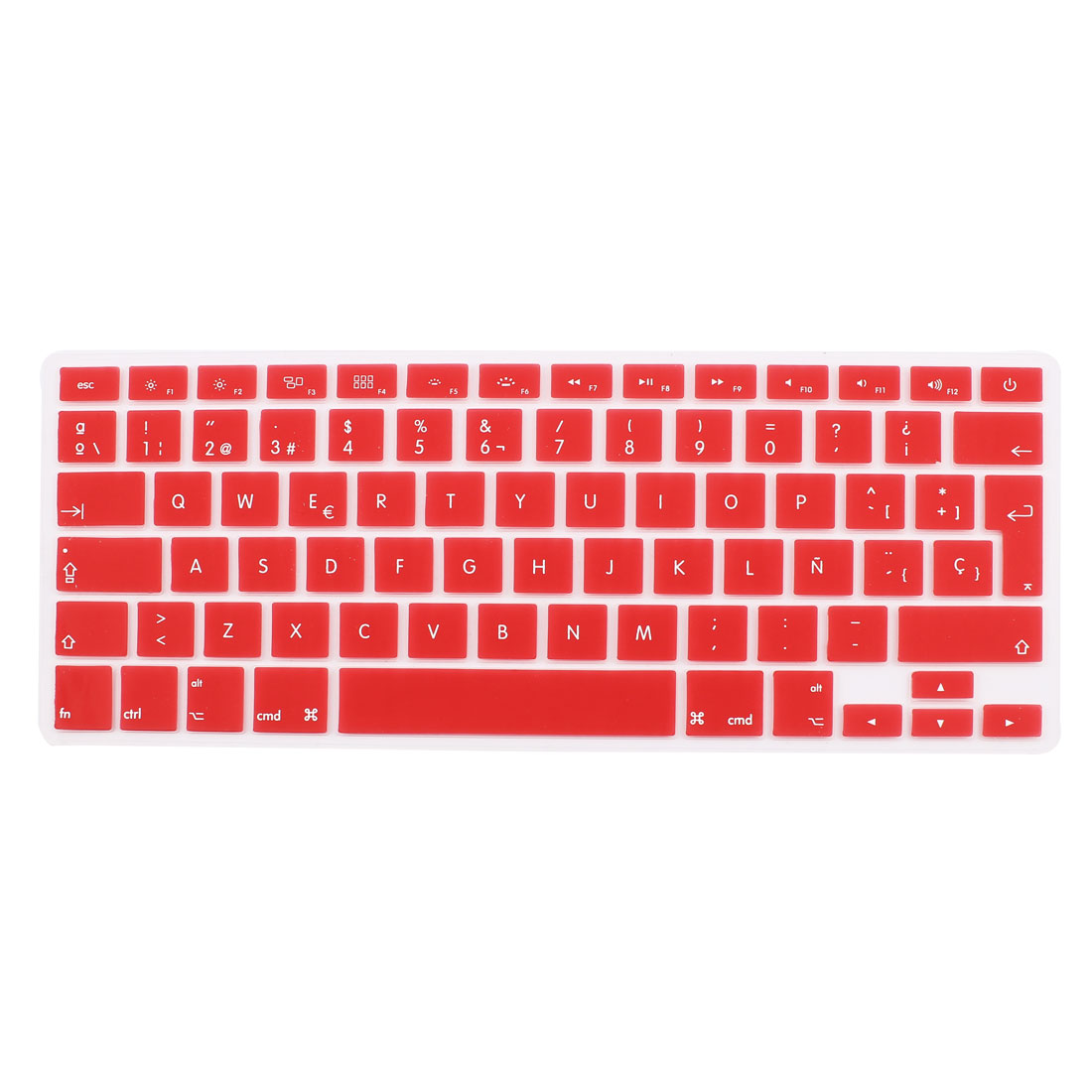 """Spanish Silicone Keyboard Skin Cover Red for Apple Macbook Air 13""""15""""17"""" EU"""