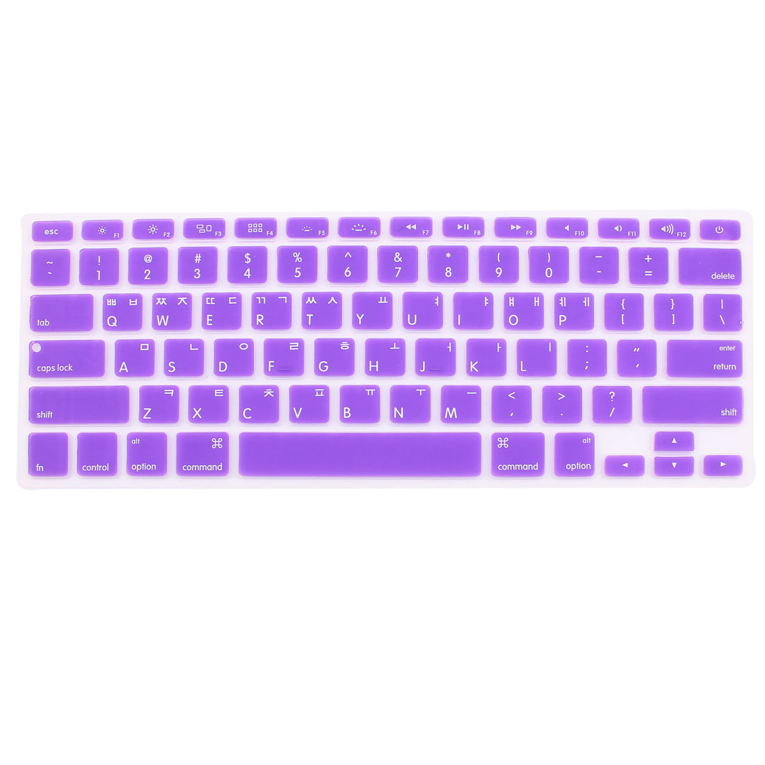 "Korean Silicone Keyboard Skin Cover Purple for Apple Macbook Air 13""15""17"""
