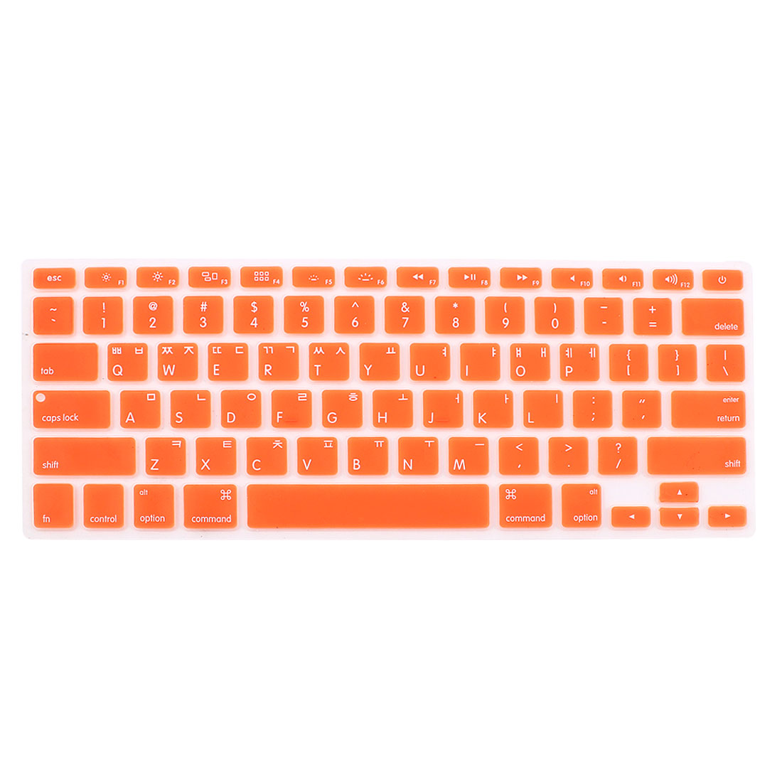 "Korean Silicone Keyboard Skin Cover Orange for Apple Macbook Air 13""15""17"""