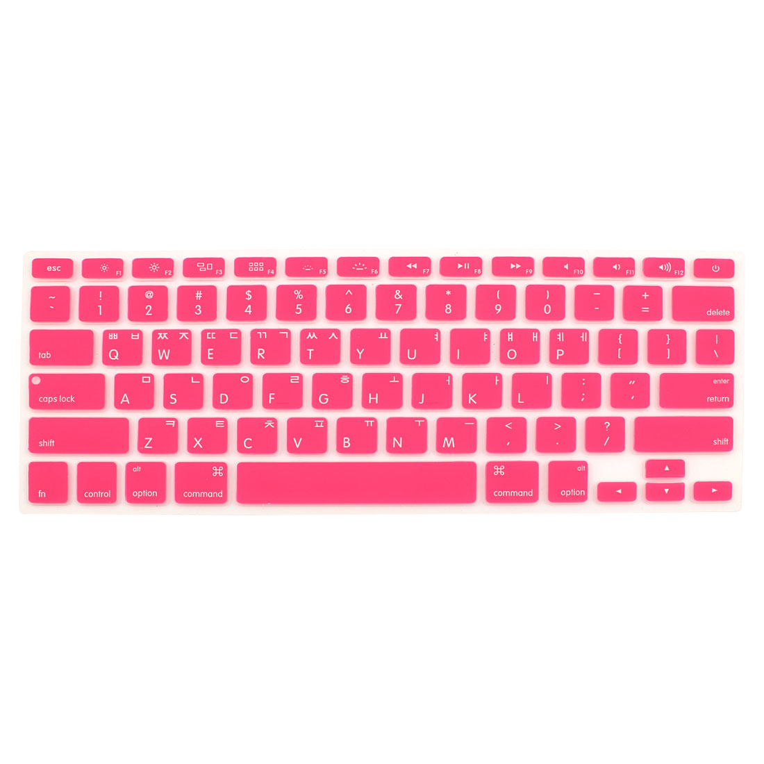 "Korean Silicone Keyboard Skin Cover Pink for Apple Macbook Air 13""15""17"""