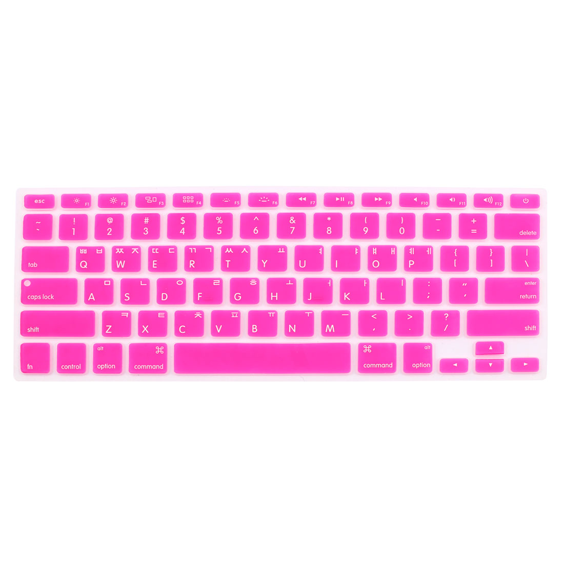 "Korean Silicone Keyboard Skin Cover Fuchsia for Apple Macbook Air 13""15""17"""