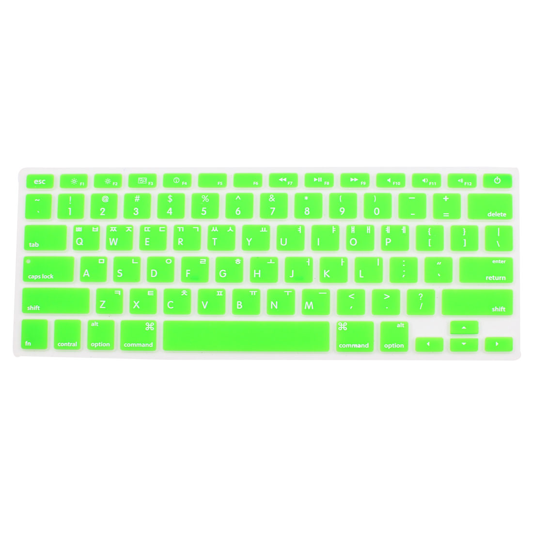 "Korean Silicone Keyboard Skin Cover Green for Apple Macbook Air 13""15""17"""