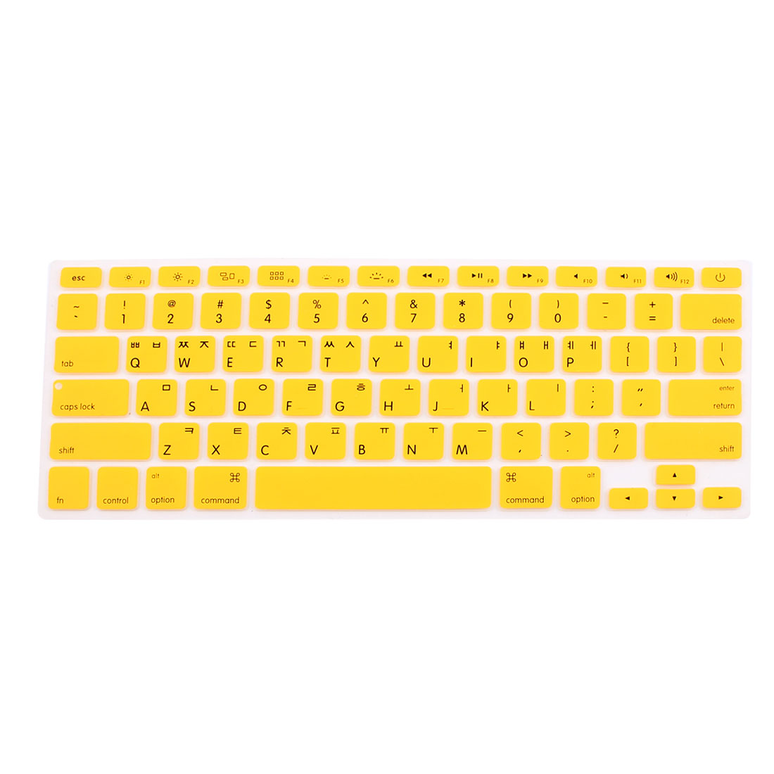 "Korean Silicone Keyboard Skin Cover Yellow for Apple Macbook Air 13""15""17"""