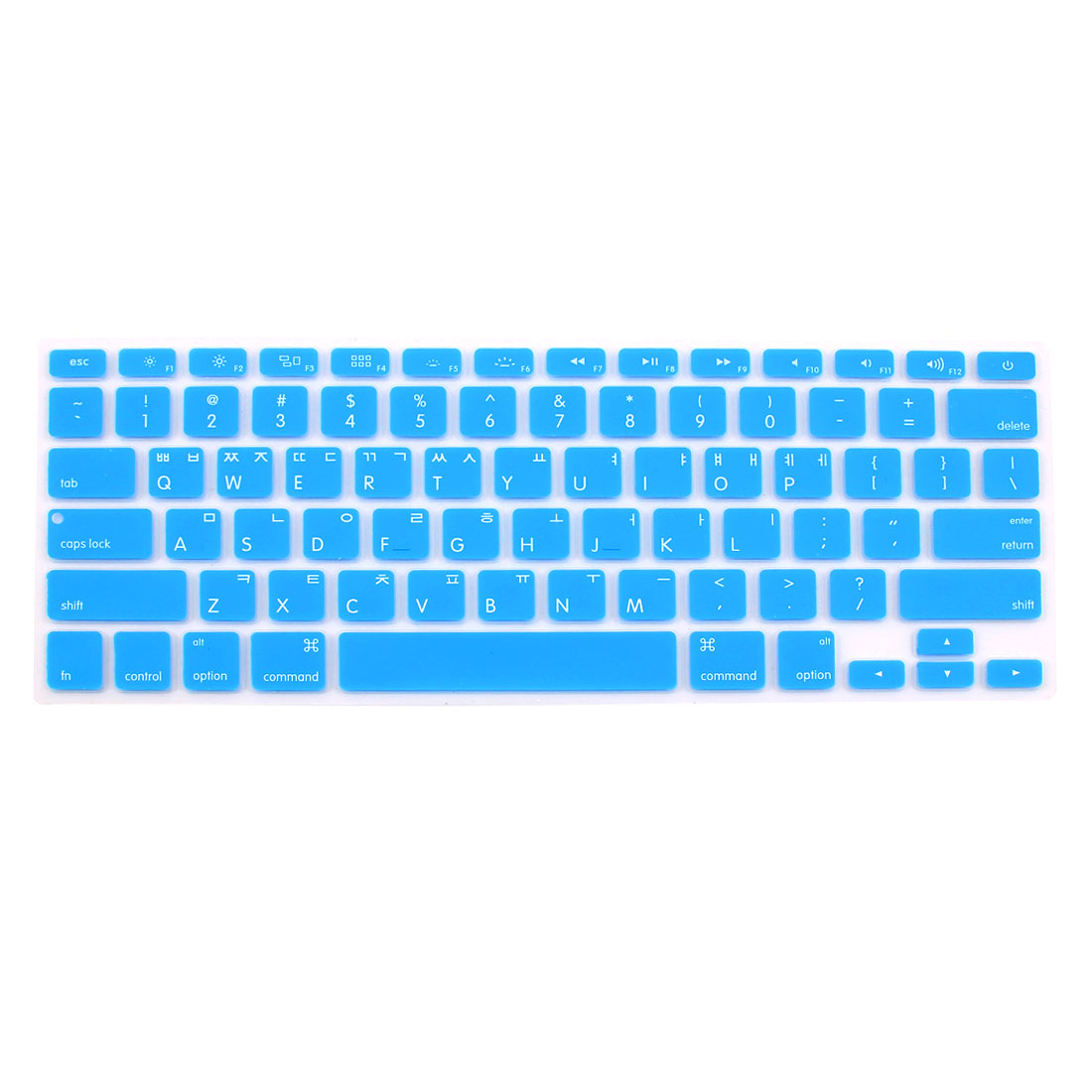 "Korean Silicone Keyboard Skin Cover Blue for Apple Macbook Air 13""15""17"""