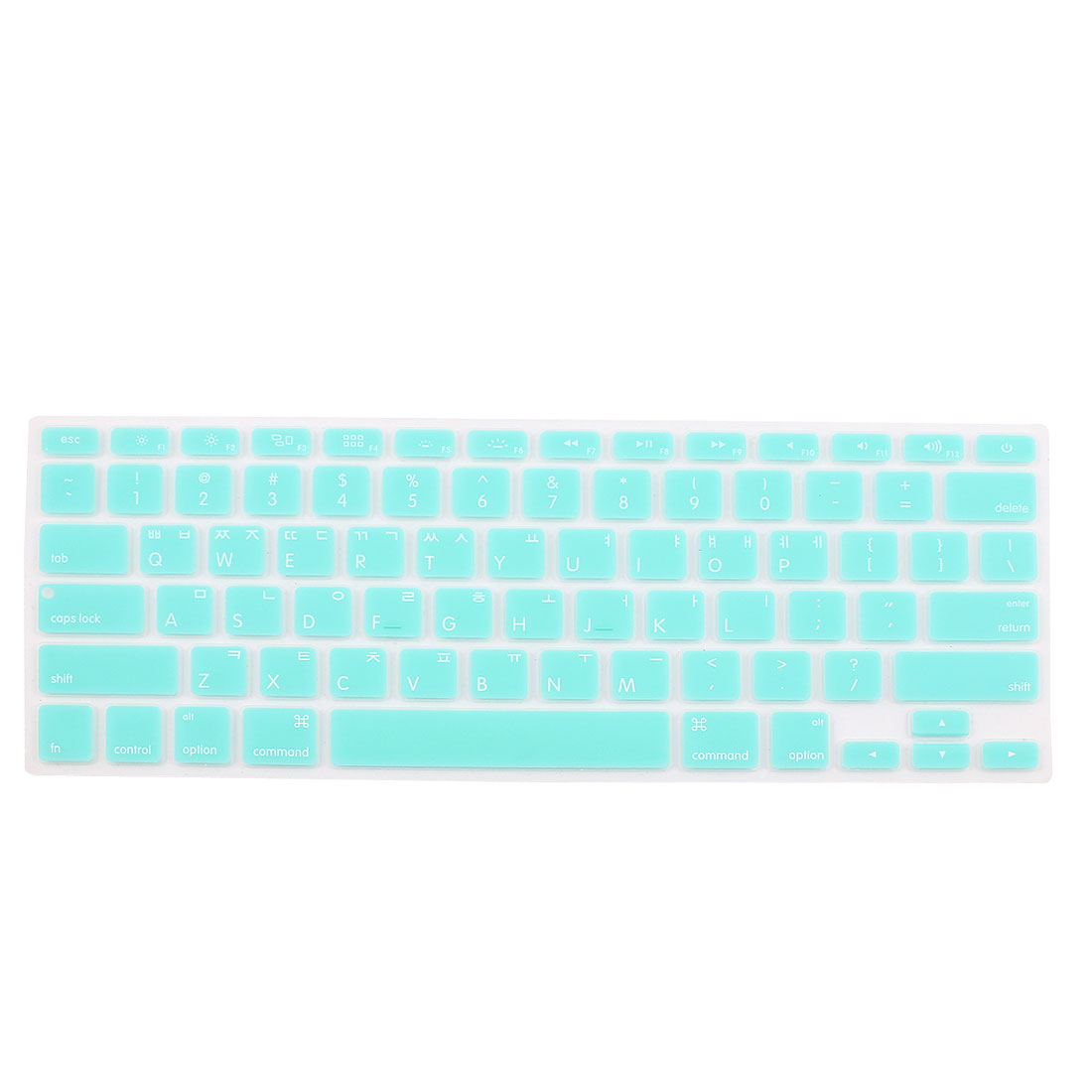 "Korean Silicone Keyboard Skin Cover Light Blue for Apple Macbook Air 13""15""17"""