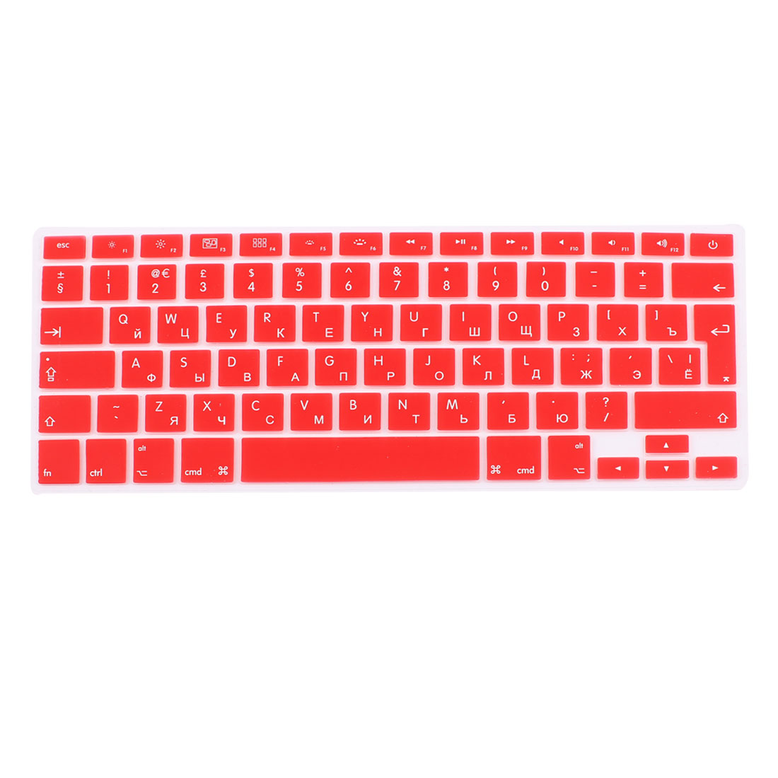 "Russian Silicone Keyboard Skin Cover Red for Apple Macbook Air 13""15""17"" EU"
