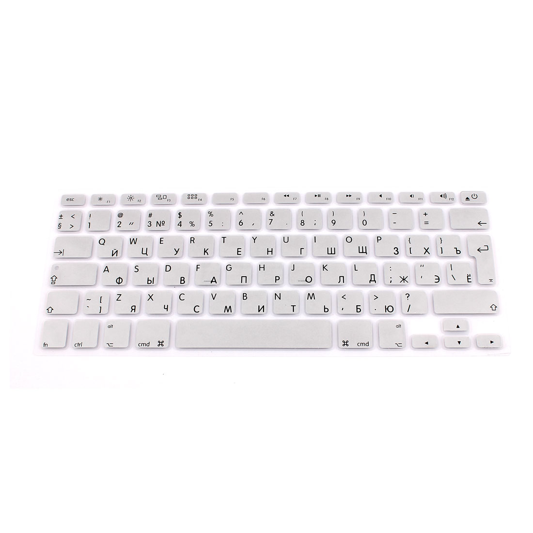 "Russian Keyboard Skin Cover Silver Tone for Apple Macbook Air 13""15""17"" EU"