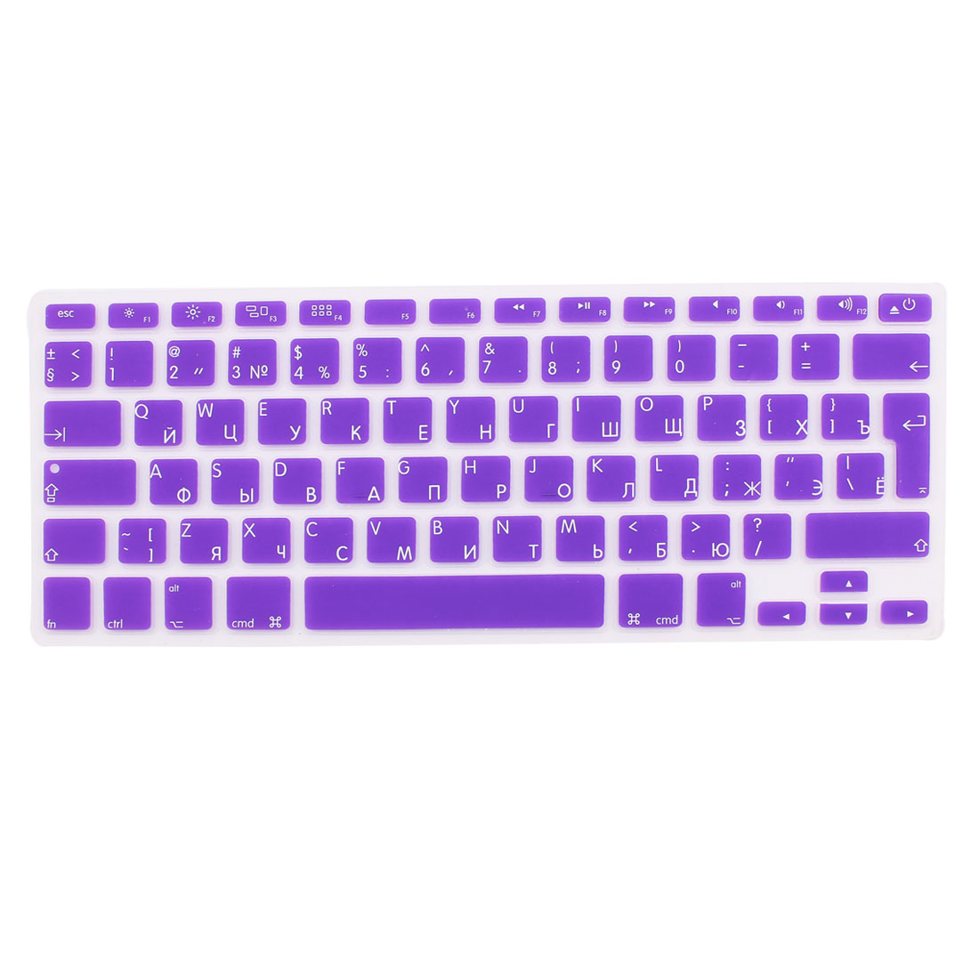 "Russian Silicone Keyboard Skin Cover Purple for Apple Macbook Air 13""15""17"" EU"