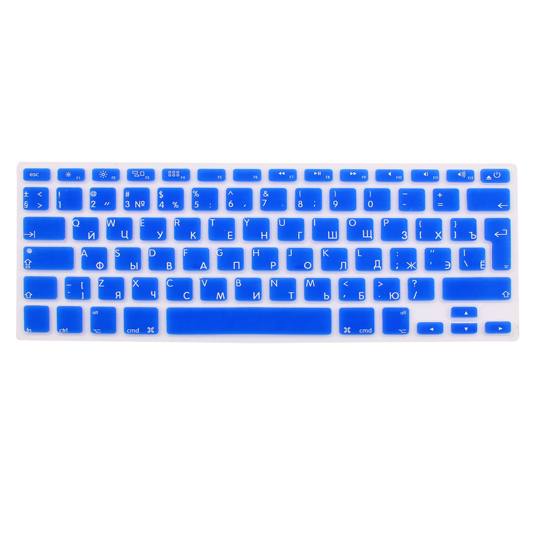 "Russian Keyboard Skin Cover Dark Blue for Apple Macbook Air 13""15""17"" EU"