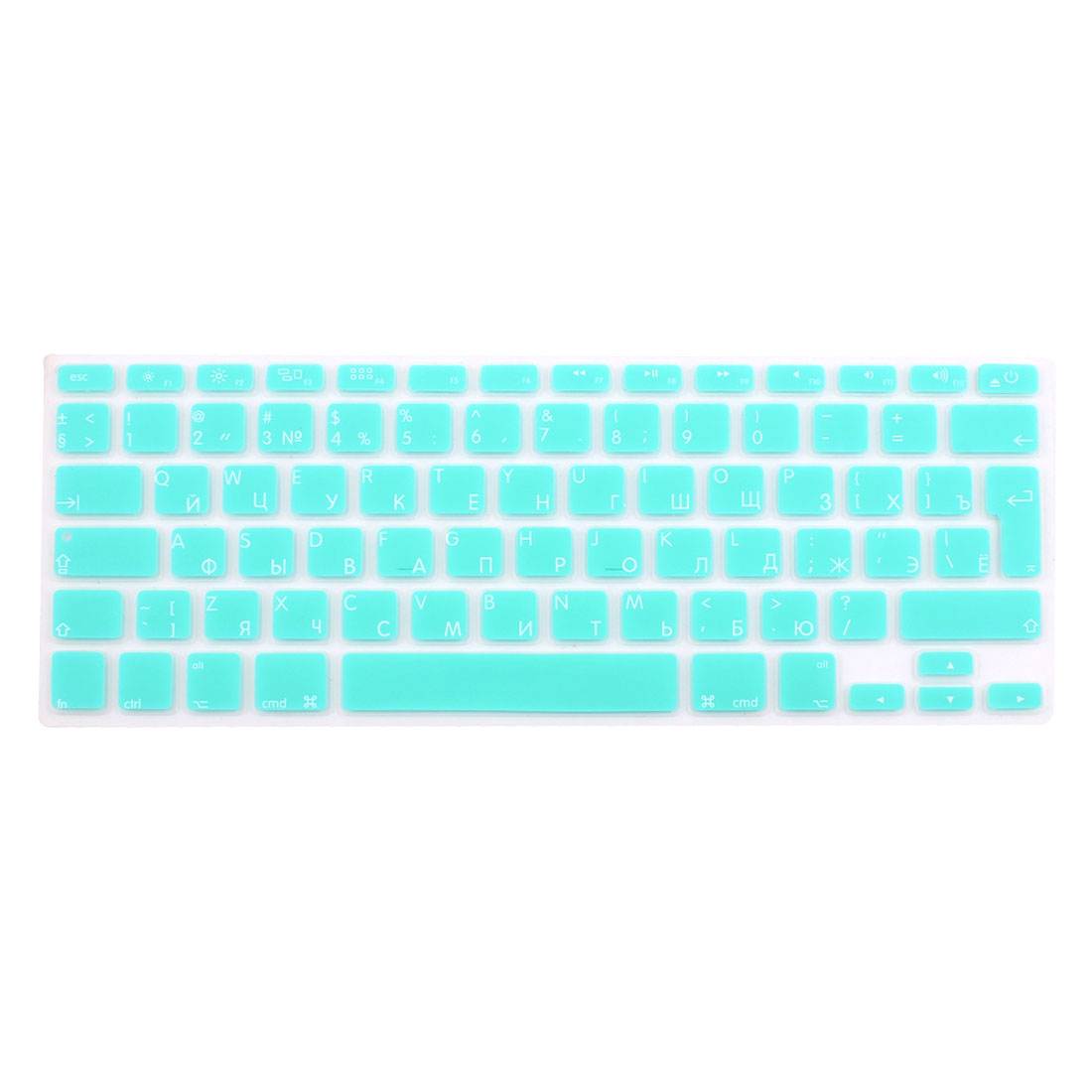 "Russian Silicone Keyboard Skin Cover Light Blue for Macbook Air 13""15""17"" EU"