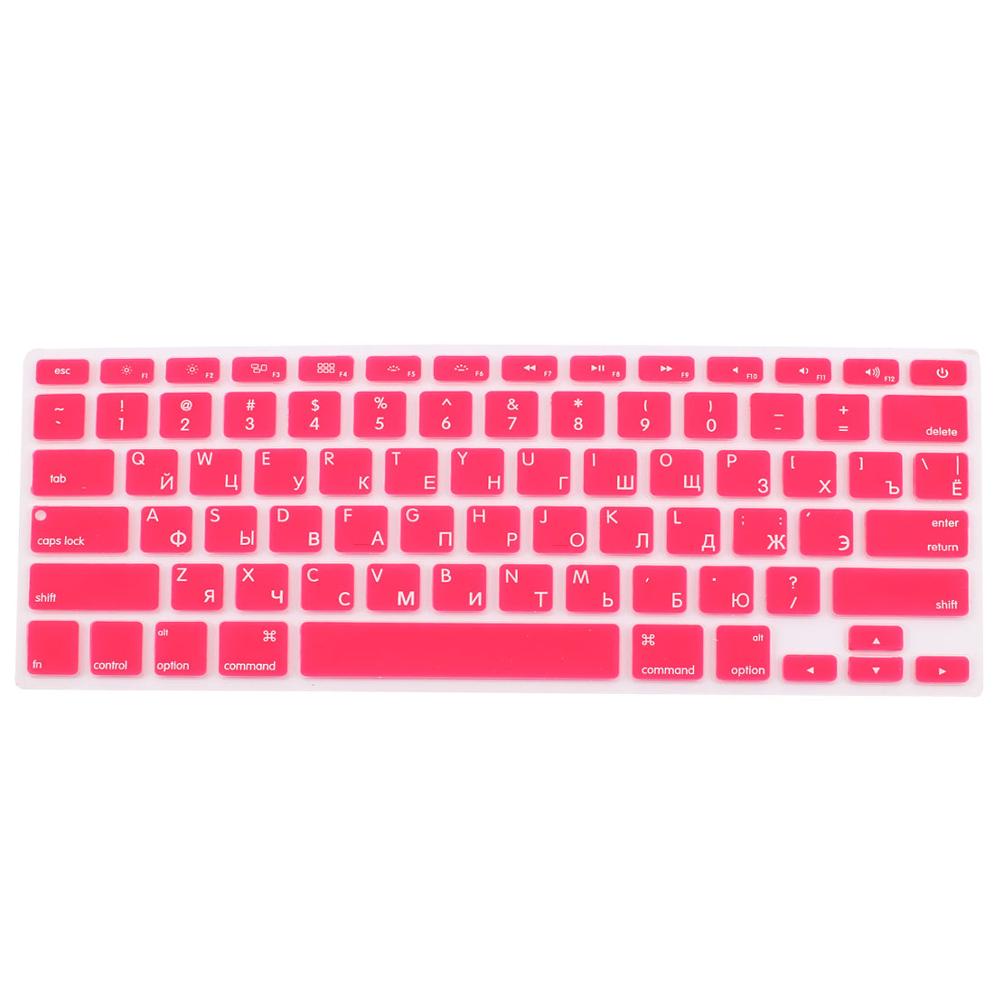 "Russian Silicone Keyboard Skin Cover Red for Apple Macbook Air 13""15""17"" US"