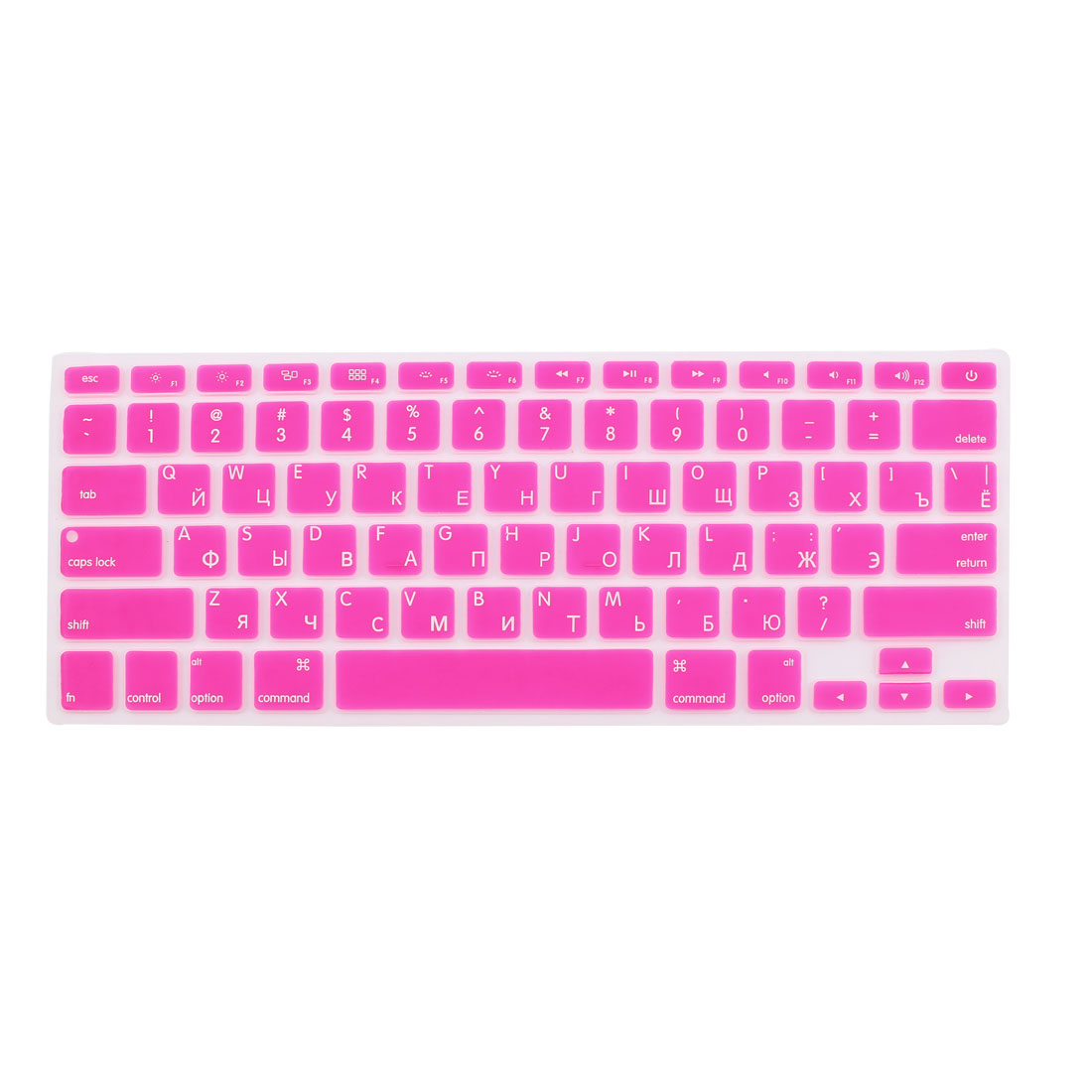 "Russian Silicone Keyboard Skin Cover Fuchsia for Apple Macbook Air 13""15""17"" US"