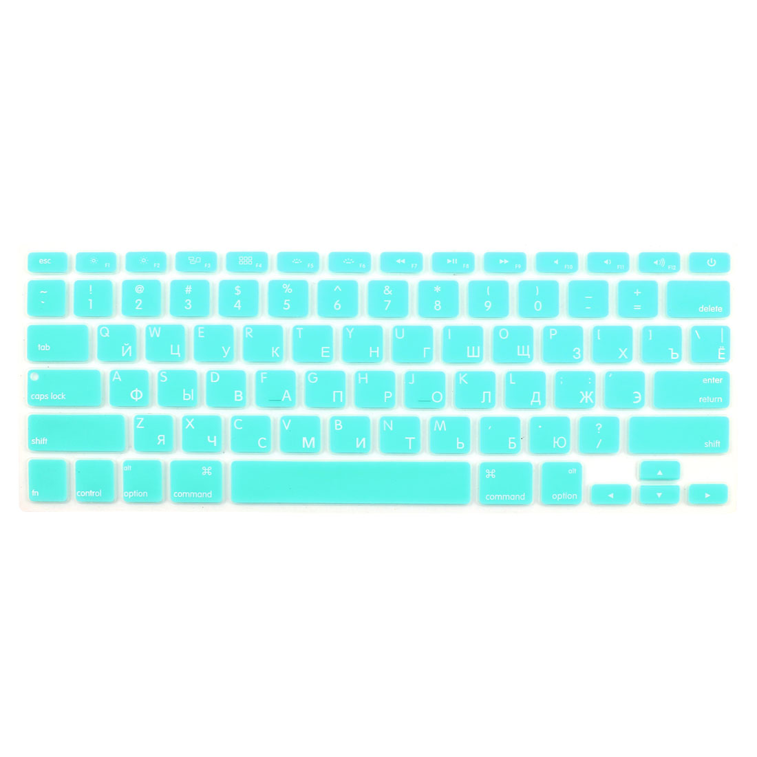 "Russian Keyboard Skin Cover Light Blue for Apple Macbook Air 13""15""17"" US"